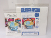Button Boats Pattern by Lazy Girl Designs and Sew Lazy Stiff Stuff Firm Interfacing Craft Pack Bundle