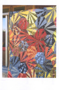Chinese Fireworks Aardvark Paper Pieced Hexagon Wall Quilt Pattern