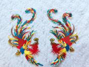 Glue on The Back Multicoloured Embroidery Lace Applique Trim Ironing Patches 24x14cm2 for Dress Skirt DIYaccessory