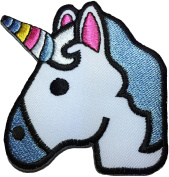 Unicorn cute size 7.5 cm. x 7 cm. biker heavy metal Horror Goth Punk Emo Rock DIY Logo Jacket Vest shirt hat blanket backpack T shirt Patches Embroidered Appliques Symbol Badge Cloth Sign Costume Gift