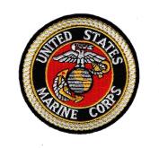United States Marine Corps USMC Round 7.6cm Iron On Patch