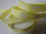 Grosgrain Ribbon - Yellow Baby Foot Print - 1cm Wide - 5 Yards, Baby Shower Favours, Crafts!
