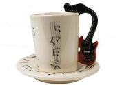 Guitar 60ml Red Ceramic Espresso Cup 8cm X 5cm