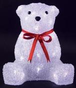 Christmas Decoration Led Acrylic Bear Indoor Mains Operated 26cm Xmas