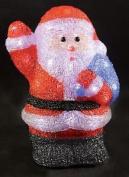 Christmas Decoration Led Acrylic Santa Indoor Mains Operated 29cm Xmas