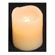 Wax Covered Cream Led Flicker Candle - 5cm Tall Christmas Xmas Decoration