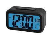 Trevi Sld3068 Digital Bedside 12/ 24 Hour Alarm Clock With Large Lcd Display,