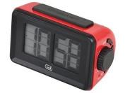 Trevi Digital Clock With Flip Animation, Plastic, Red