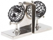 Libra Bowes Black Armilliary Glove Bookends Ornament Indoor House Decor 18cm