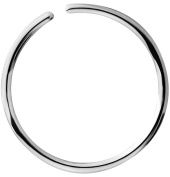 18G - 20G Surgical Steel Seamless Nose Ring & Cartilage Hoop with Comfort Round Ends