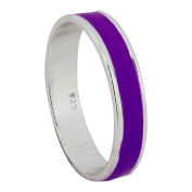 Purple Silver Wedding Anniversary Band Ring For Women