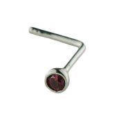 Mia Gioielli - Nose jewellery, silver nose studs with ruby Cubic Zirconia 1.50 , L-05517-A000