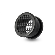 Screw Fit Ear Flash Tunnel Plug In A Chic Black Line Case. The Ear Flash Tunnel has been made from High Quality 316L Surgical Steel for a comfortable fit