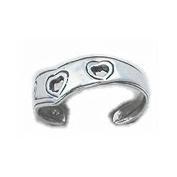 Heart Sterling Silver Toe Ring - Pretty Toe Rings