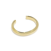 Giles & Brother Men's Gold Finished Polished Hex Cuff