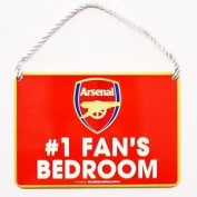 Arsenal Fc Official Number 1 Fan Football Crest Bedroom Sign