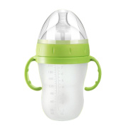 Baby Food Grade Material With Handle One-piece Straw Bottle 8 Ounces,A-240ml