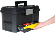 Stanley 48cm 1-touch Toolbox With Drawer V-groove Lid Removable Tote Tray