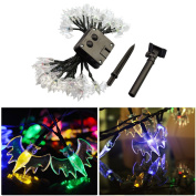 LEDMOMO 6m 30 LED Bat Solar String Lights Outdoor Waterproof Fairy Light String for Christmas Home Wedding Party Bedroom Birthday Decoration with Solar Panel