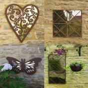 Garden Acrylic Mirror Rustic Frame Outdoor Uv Weather Resistant Window Illusion