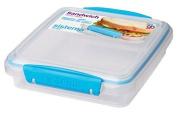 Sistema To Go Sandwich Box, 450ml - Clear Blue