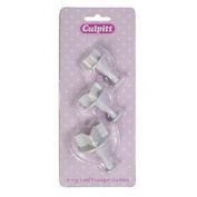 Culpitt 3 Size Ivy Leaf Plunger Icing Cutter Cake Marzipan Embrossing Decorating