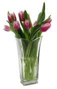 Italian Glass 'vinciana' Flower Vase For Beautiful Summer Flowers
