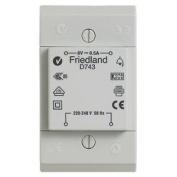 Friedland D743 8v Ac 0.5a Bell / Chime Transformer