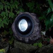 Solar Powered Jumbo Rock Light Led Garden Patio Pathway Decoration 15 Lumens