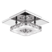 Fuloon 12w Led Ceiling Light Modern Flush Mount Crystal Ceiling Lamp Fitting, To