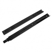 "2 Pcs Black Aluminium Sliding Track Mount Drawer Guide Rails 20"" 51cm"