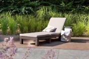 Allibert Daytona Sunlounger With Cushion Cappuccino - Gf05820b