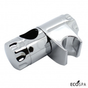 Chrome Shower Handset Holder For 25mm Riser Rails   Adjustable Double Locking