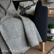 Linen & Cotton Luxury And . Rough Wool Sofa Bed Throw / Blanket Iceland- X