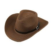 Men's West Cowboy Hat Wide Large Brim Straw Bucket Hat Fedora Hat Sun Hat Basin Cap Foldable Women'Beach Cap Sun Shade Hat Summer Hat Hip-hop Jazz Hat with Roll Up Brim