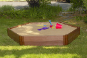 Frame It All Two Inch Series 2.1m x 2.4m x 28cm Composite Hexagon Sandbox Kit
