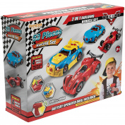 Prextex 4 in 1 Build Your Own Racer Car Set With Real Working Drill And Screws 53 Piece Take-A-Part Toy for boys And Girls with Lights and Sounds