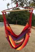 Hammock Swing Chair Chill Out Colourful Xl With Crossbar - Tinas Collection