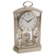 Rhythm Ornate People Mantel Clock Two Tone Colour Ultra Slow Swinging Pendulum