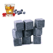 Cheap4uk Whisky stone,Beer Ice Stones Wine Cube Body with Free Velvet Pouch(8pc)
