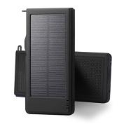 Portable Charger 10000mah Solar Power Bank Waterproof Dustproof Shockproof Faste