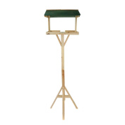 New! Traditional Wooden Outdoor Garden Bird Table Feeding Station