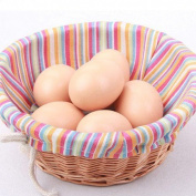 Eqlef® 10pcs Artificial Nest Egg Fake Food Dummy House Decor Plastic Egg Toy