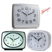 Kg Homewares Sweep Silent Movement Beep Mini Travel Bed Alarm Clock, Multi Colour