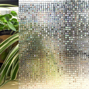 Cottoncolors No Glue 3d Static Decorative Privacy Window Film Non Adhesive For