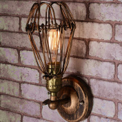 Retro Wall Light Creative Individuality Desk Lamp Industrial American Wall Lamp Stairway Aisle Balcony Corridor Iron Industry Wall Lamp E27((die Lampe ist nicht enthalten))