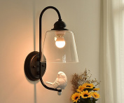 Modern Simple Desk Lamp Aisle Living Room Bedroom Wall Lamp Glass Wall Lamp Creative Bird Wall Lamp Socket E27(Does Not Include Light Source)