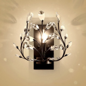 Good thing wall lights American Crystal Wall Lamp Retro Simple LED Bedside Light Creative Iron Wall Light