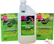 Envii Annual Pond Treatment – Pond Klear Xtra, Sludge Klear And Nitrate Klear