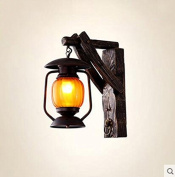 Wall lights American Rural Pastoral Solid Wood Wall Lamp Personalised Creative Bar Lights Aisle Lamp Chinese Antique Lamps Wall hanging lights